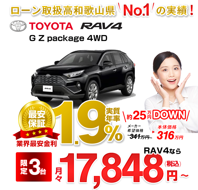 RAV4 G Z package 4WD